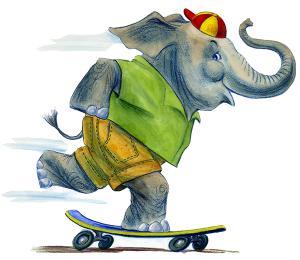 Skating Elephant